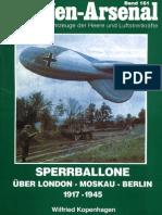 Waffen Arsenal - Band 161 - Sperrballone über London - Moskau - Berlin 1917-1945