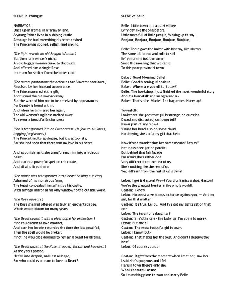 Beauty And The Beast Gaston Song Lyrics