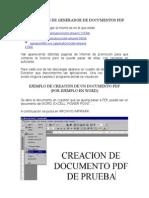 Instalacion de Generador de Documentos PDF