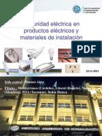 Etiquetado de Seguridad Electrica en Productos Electricos y Materiales de Instalacion