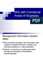 MIS With Functional Areas of Business