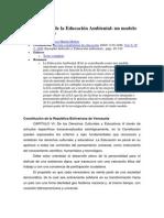 Bases Teóricas de La Educación Ambiental