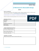 DNV GL 2014 PhD Award in Renewable Energy Submission Form_tcm212-608522