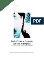 Juicio Crítico Al Concepto Jurídico de Empresa