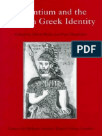 124187436 Ricks Magdalino Ed 1998 Byzantium and the Modern Greek Identity