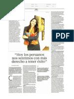 Hoy Más Peruanos Nos Sentimos Con Más Derecho a Tener Éxito