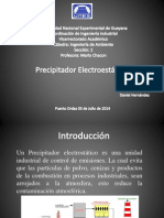 Diapositivas de Presipitador Electrostatico