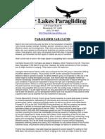 FLP Paraglider Sailcloth Material
