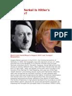 Angela Merkel Is Hitler's Daughter
