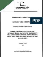 Veeduría - Mejoramiento del Hospital Regional de Ayacucho