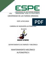 Informe Columna de Dirección