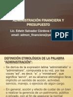 Administración Financiera y Presupuesto