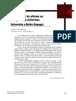 16. Entrevista a Belén Gopegui