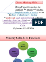 Christ-Given Ministry Gifts & Its Functions
