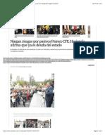 29-07-14 Niegan riesgos por pasivos Pemex-CFE; Hacienda afirma que ya es deuda del estado