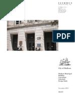 Madison Municipal Building Draft Conceptual Study November 2013