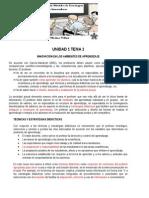 Unidad 1 Tema 1 Innovacion en Los Ambientes de Aprendizaje