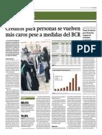 Créditos Para Personas Se Vuelven Más Caros Pese a Medidas Del BCR_30!07!2014