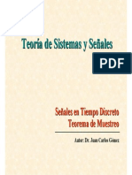 Senales TD Teorema Muestreo