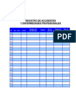 Registro Accidentes y Enfermedades Profesionales