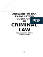 Criminal Law Bar Examination