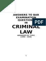 Criminal Law Bar Examination