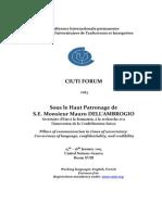 CIUTI 2015 Tentative Programme