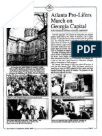 1988 Issue 3 - Atlanta Pro-Lifers March on Georgia Capital - Counsel of Chalcedon