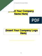 Generic Employee Handbook Template