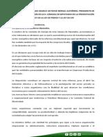 30-07-14 Palabras Presidente Comision Energía - Presentación Ley PEMEX y CFE