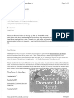 donate life month emails