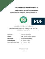 Propuesta de Manejo de Residuos Sólidos Del HTM