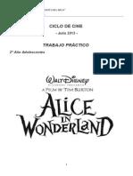 Alice in Wonderland Practical Work