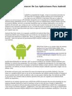 Lo Que Conviene Conocer De Las Aplicaciones Para Android