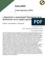 ¿Adquisición o Aprendiza...Iencias Cognitivas UAEM