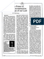 1988 Issue 7 - The Five Points of Christian Reconstruction From the Lips of Our Lord - Counsel of Chalcedon