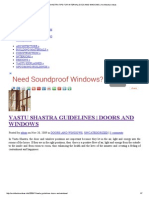Vastu Shastra Tips for Internal Doos and Windows _ Architecture Ideas