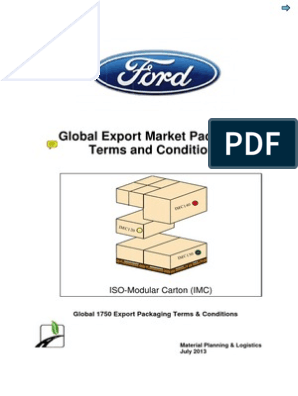 NORMA IMC Ford packaging spec pdf | Packaging And Labeling