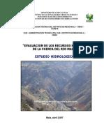 Estudio Hidrológico Del RIO MALA