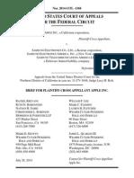 Apple v. Samsung (the merits appeal) - Apple's Brief