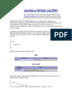 Crear Una Conexión a MySQL Con PDO