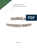 Control de Calidad Del Concreto Fresco