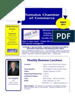 Greater Romulus Chamber of Commerce August 2014 E Savings Newsletter