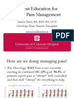 presentation of pain patient education tool