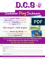 PDDCS Playscheme 2014 Advert