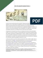 Teoría de La Evolución de Lamarck