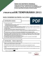 Professor Temporário GDF 2011 - PROVA