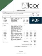 Análisis de Precio Unitario ALCOR