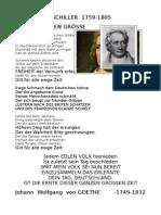 SCHILLER Goethe Und Bismarck Über Die Deutschen