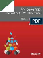 SQL Server 2012 Transact-SQL DML Reference